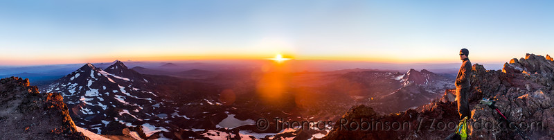 South Sister Sunrise Panorama