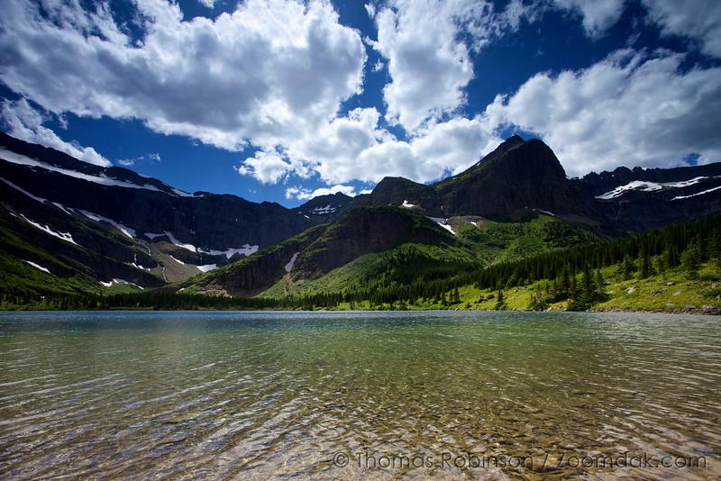 Bullhead Lake and Swiftcurrent Mountain