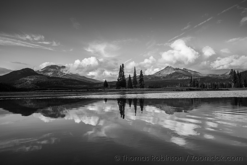 Sparks Lake in Black and White