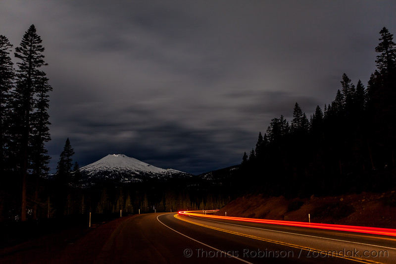 Cascade Lake Highway by Night