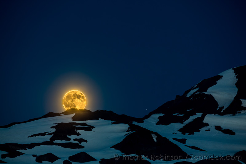 Moon Rise Over North Sister