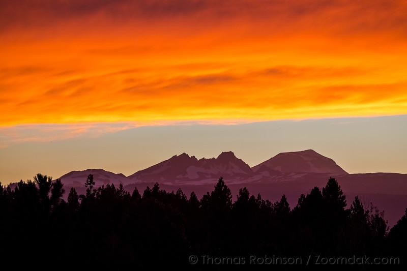 Fiery Sunset in Bend, Oregon