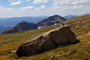 A slab of granite mirrors the shape of Andrews Peak along the western slope of Mt. Alice. <br /> <br /> The summit of Mt. Alice stands at 13,310ft (4057 m) and the summit of Andrews Peak at 12,565 (3830m).