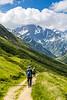 Down from Col de la Seigne