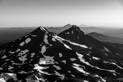 Middle and North Sister Monochrome
