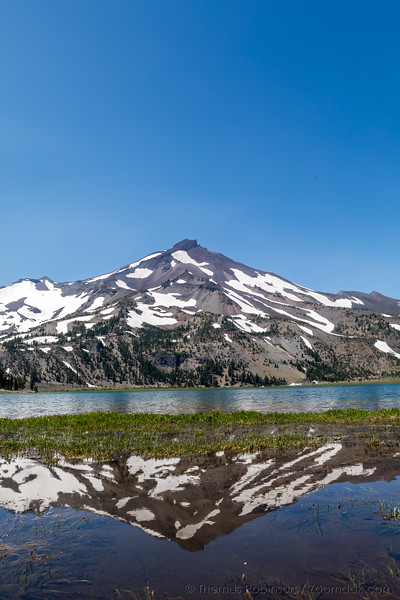 South Sister Reflection in Green Lake