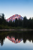 Mt. Hood Alpenglow at Mirror Lake, Vertical