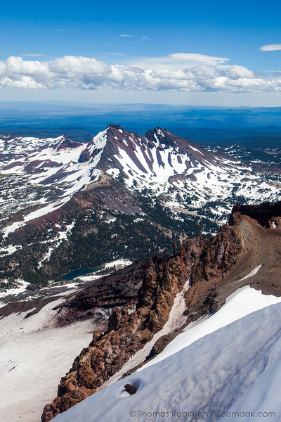Broken Top from South Sister, Vertical