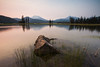Sparks Lake Forest Fire Sunset