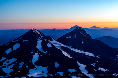 Middle and North Sister Before Sunrise