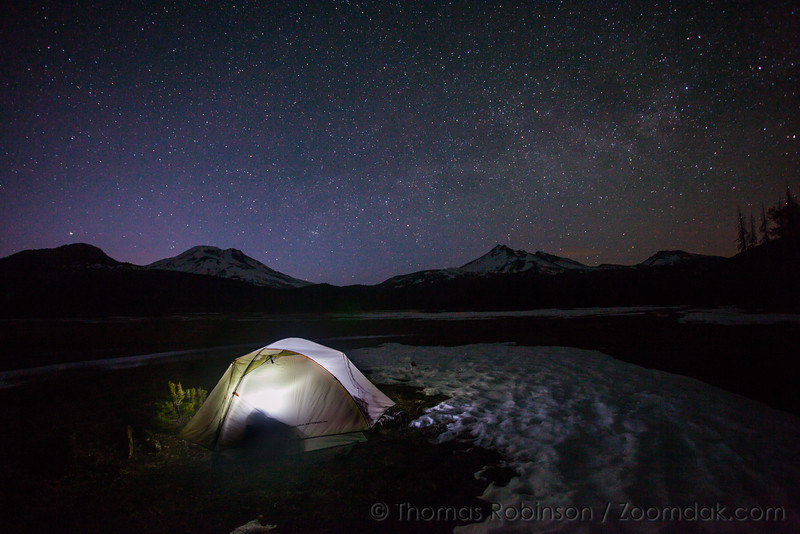 Camping at Sparks Lake, Oregon