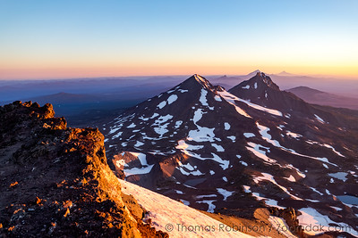 Middle and North Sister at Sunrise