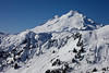 The snow covered north-east face of Mt. Baker from from Artist Point. <br /> <br /> Mt. Baker is the fourth highest mountain in Washington state, standing at 10,788 feet (3,286 m). It also one of the snowiest places in the world, with a record 95 feet of snow in one season in 1999.
