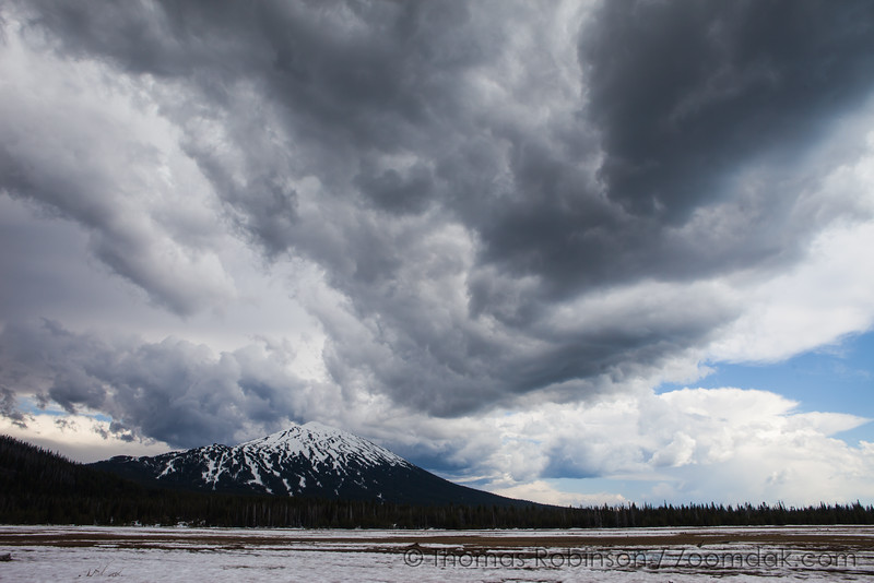 Mt. Bachelor and Thunderstorm