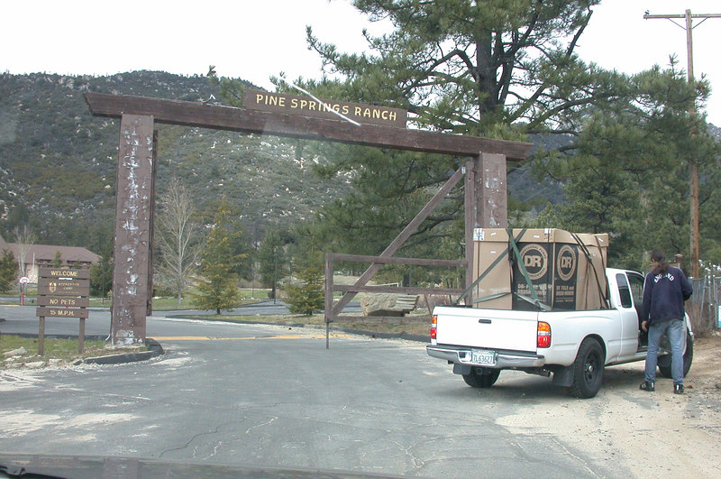 The enterance to the ranch.