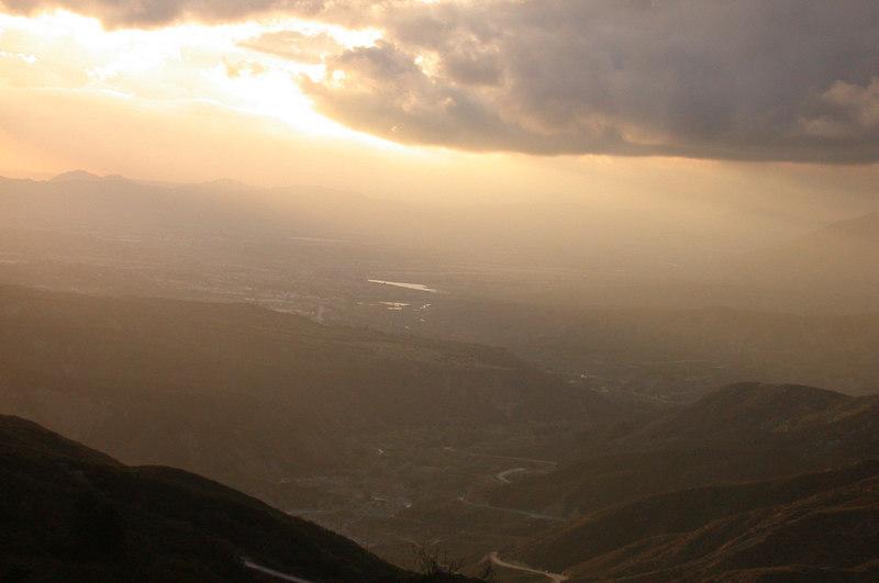 Coming down the mountain near Hemet.