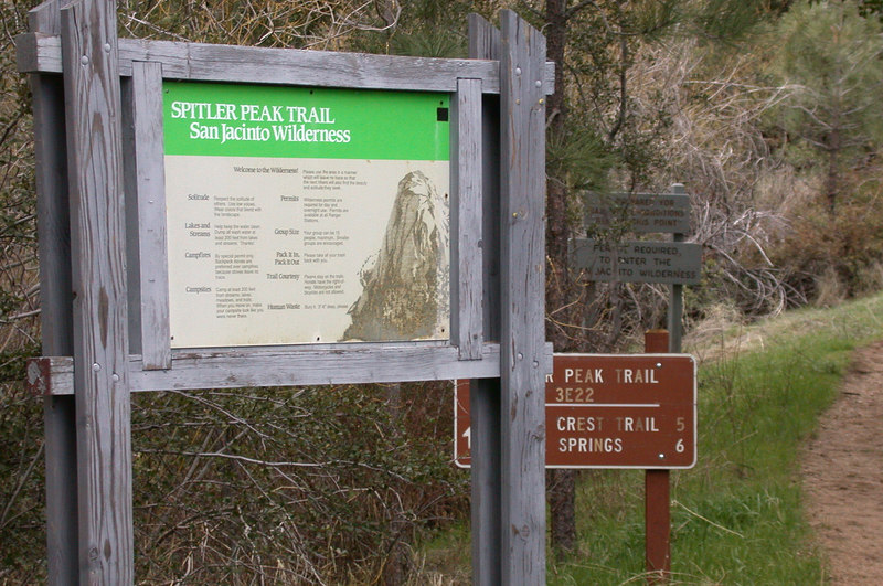 This trailhead near the ranch provides public access to the Pacific Crest Trail.