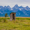 Outhouse in the Tetons