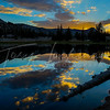 Uinta Lake, Sunset reflection