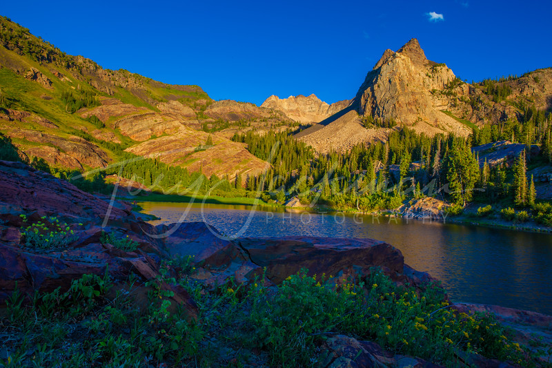 Sundial Peak at Lake Blanche