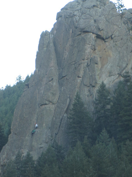 rock climbing in the canyon