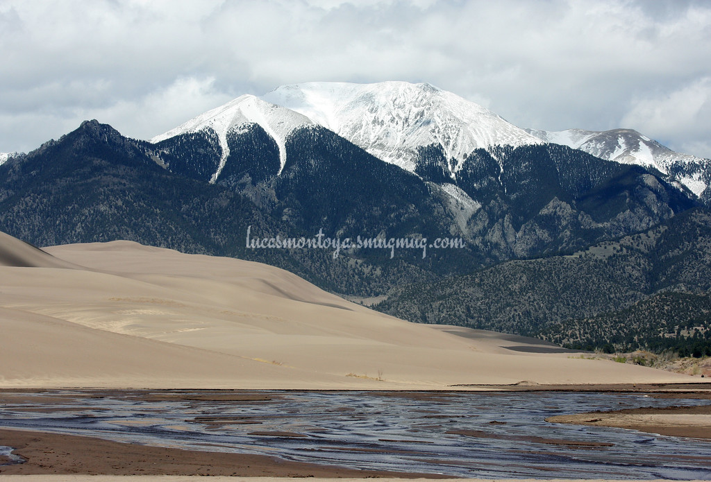 Mt. Herard, Great Sand Dunes, Medano Creek - 21 May 2011
