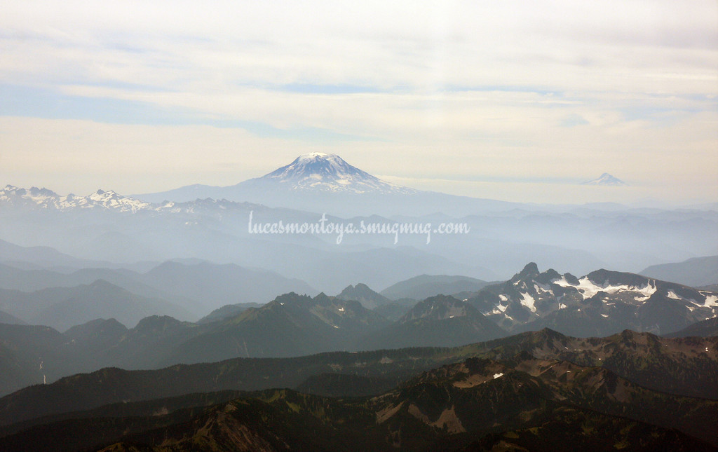 Mt. Adams, Washington; Mt Hood in background on right