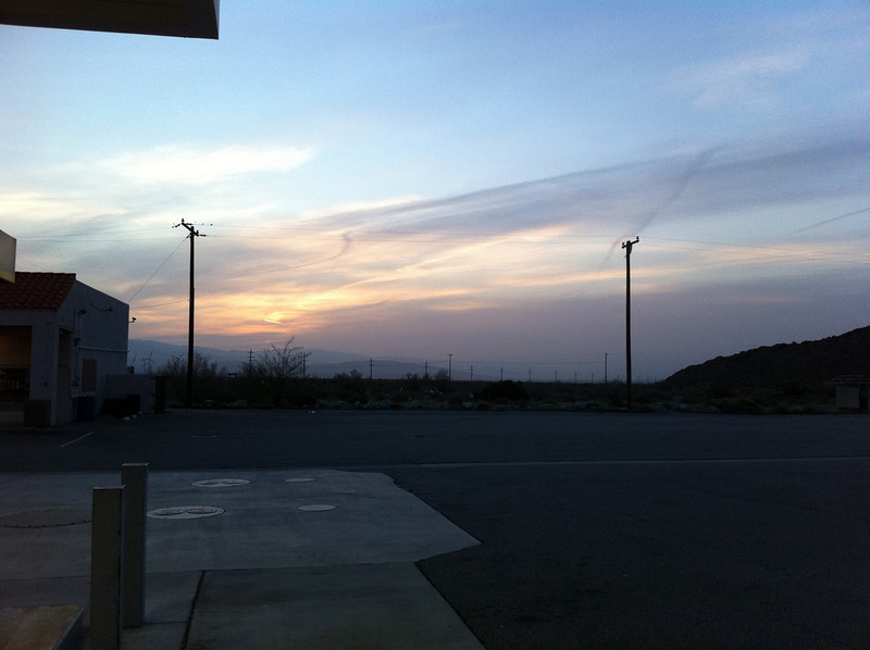 Sunrise in Palm Springs