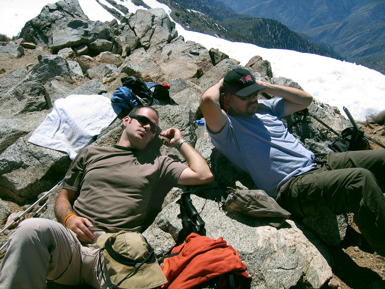 Gina snapped this pic of Greg and Paul chillin' on the summit while I was walking around taking pics.