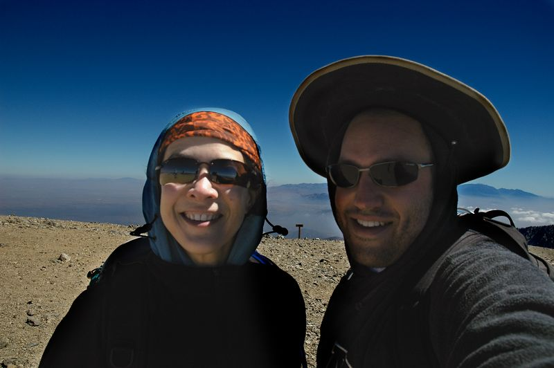 Gina and me at Mt. Baldy Summit, September 11, 2005.