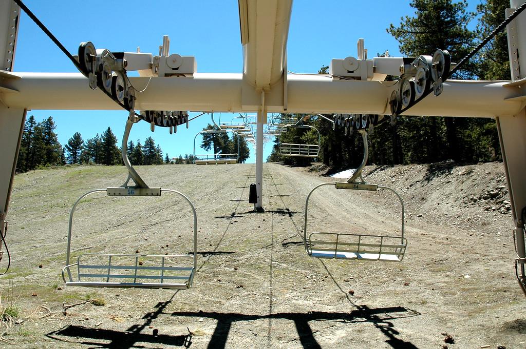 A Mountain High ski lift.