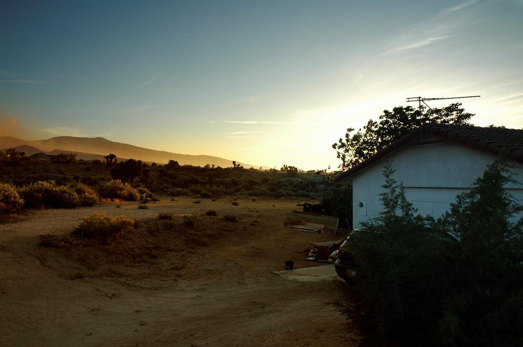 Phelan, CA sunset.