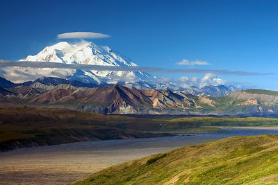 Denali and summit cloud from near Eielson Visitor Center