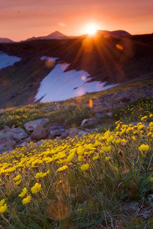 A beautiful sunset on Trail Ridge Road