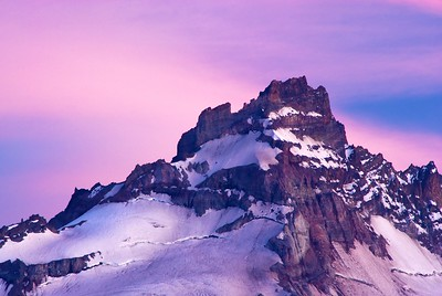 Little Tahoma, on the flanks of Mount Rainier.  You can see this minor peak in the left side of the previous shot.