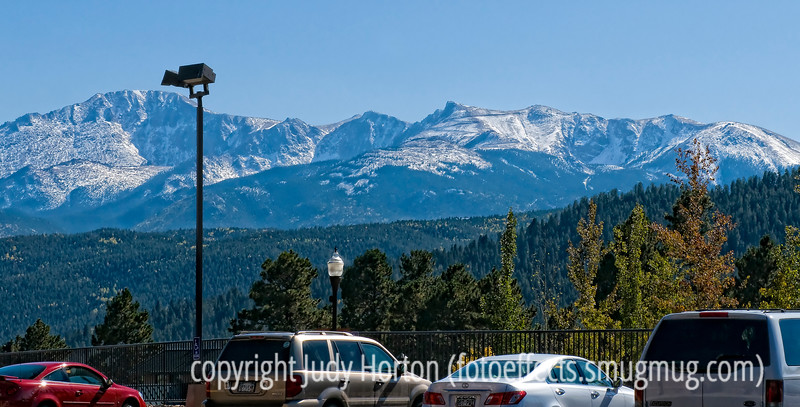 The view from the Sonic parking lot in Woodland Park, Colorado