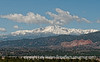 Pike's Peak after a late spring snow; best viewed in the largest sizes