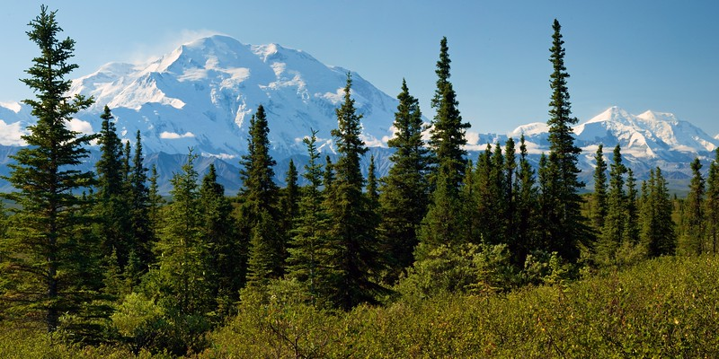 Denali, as seen from near Wonder Lake, Alaska.