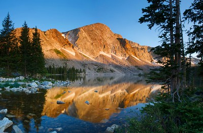 Lake Marie, Wyoming, on a relatively still morning in summer of 2008
