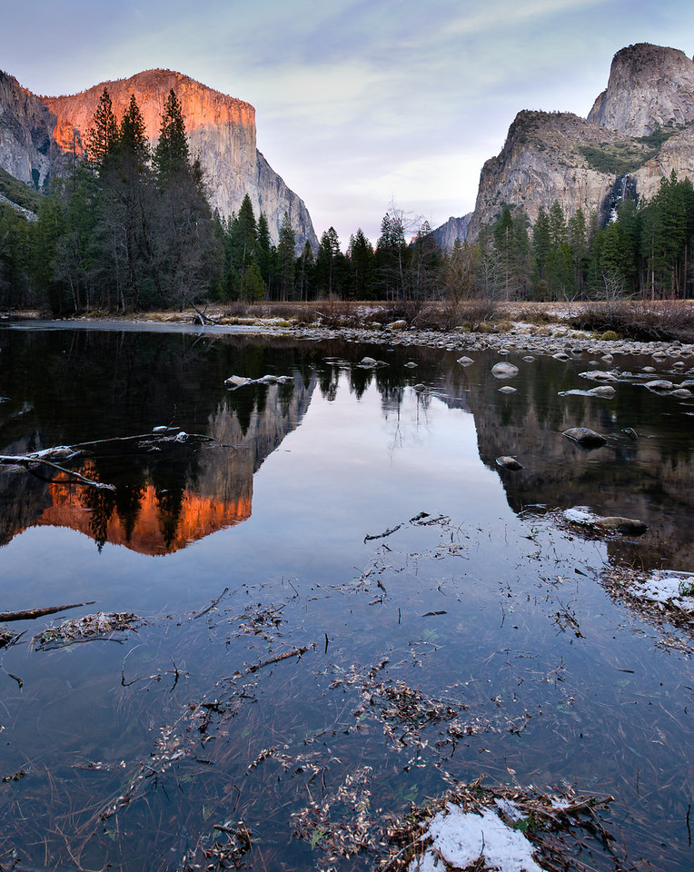 2011-12-25 Sunset on El Capitan -see more fine art images that Jao took in Yosemite in this gallery.