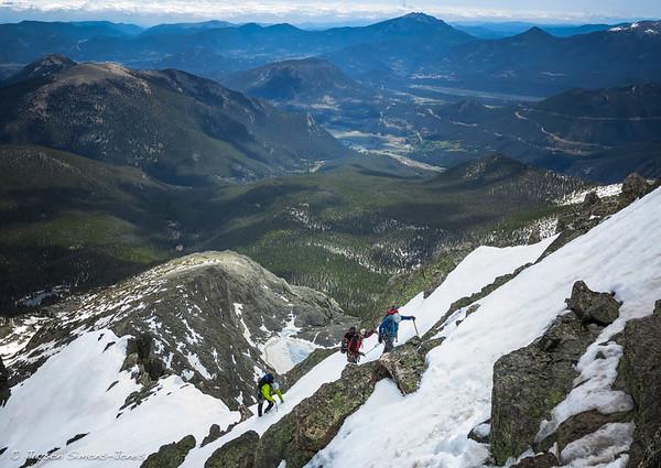 Alpine climbing above the Estes Park Valley....Rocky Mountain Nat'l Park, CO