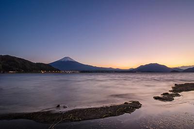 Fuji & Kawaguchiko Lake at Dusk