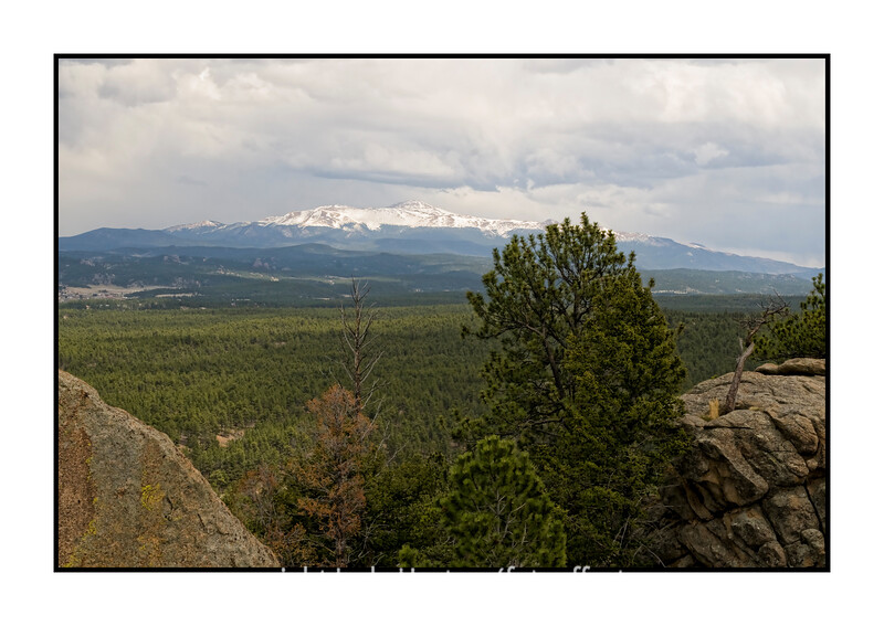 Looking toward Pike's Peak from a spot on top of Eleven Mile Canyon in Colorado.