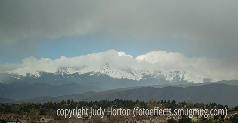 Pike's Peak on a Foggy Morning