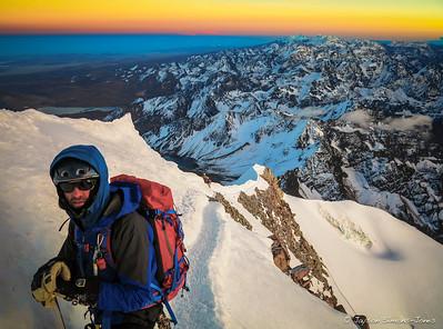 Sunrise over the Cordillera Real....Bolivian Andes