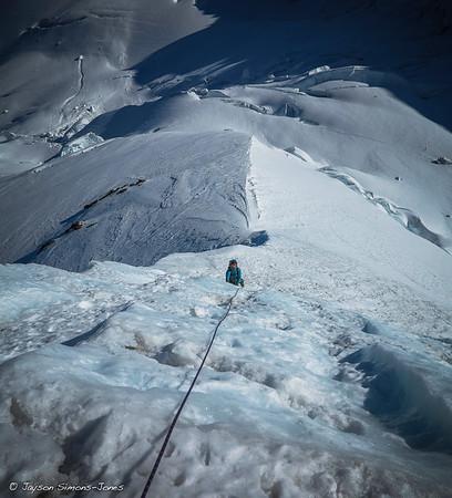 Mount Baker North Ridge Crux Ice Pitch....Mount Baker, WA