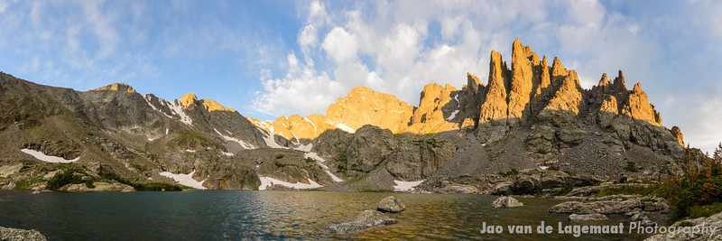 Sky Pond sunrise pano