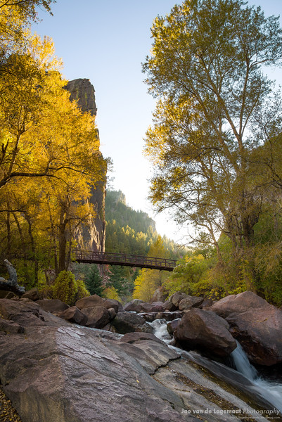 Eldorado canyon evening glow