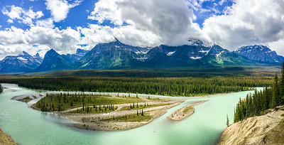 Athabasca River, along Icefields Parkway
