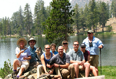 The crew to Mt. Eddy with deadfall lake in background